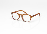 Blue Light glasses M Toffee, Brown by the side, glasses for blue light by Blueberry