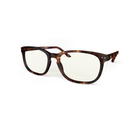 Blue Light Reading glasses XL brown chestnut tortoise by the side, glasses for blue light by Blueberry
