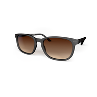 Sunglasses XL Black, Brown Gradient Lenses by the side. Polarized sunglasses Blueberry