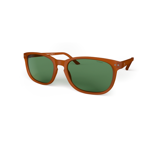 beautiful Sunglasses XL Toffee, Green Lenses by the side . Polarized sunglasses Blueberry