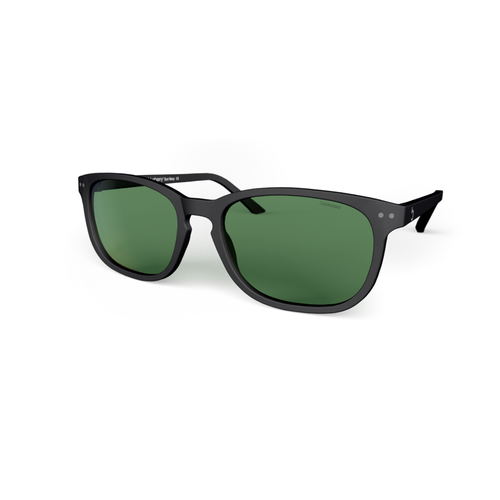 Sunglasses XL blue  Navy, Green Lenses by the side. Polarized sunglasses Blueberry