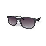 beautiful Sunglasses XL Grey, Purple Gradient Lenses by the side. Polarized sunglasses Blueberry