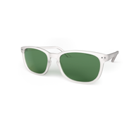 Blueberry Sunglasses XL Crystal, Green Lenses