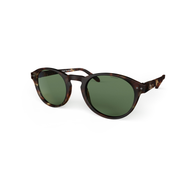 Blueberry Sunglasses L+ Tortoise, Green Lenses
