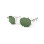 beautiful Sunglasses L+ Crystal, Green Lenses by the side. Polarized sunglasses Blueberry