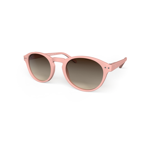 beautiful Sunglasses L+ Rose Pink, Brown Gradiant Lenses by the side. Polarized sunglasses Blueberry