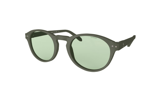 Beautiful Sunglasses L+ Kaki, Green Lenses by the side. Polarized Sunglasses Blueberry