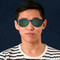 awesome man wearing Polarized sunglasses clip on specifically build for tha amazing blue light blocking glasses Blueberry Glasses size L