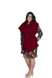 Red Jacket W/ Leather Belt