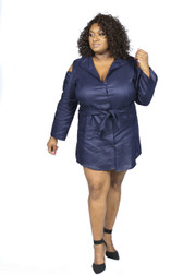 Navy blue boyfriend shirt dress(Sold Out)