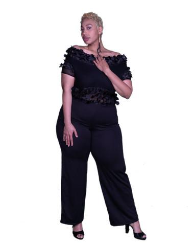Black Jumpsuit Off Shoulders