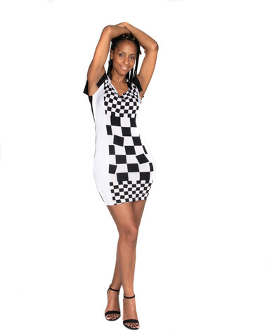 Black and White Boss Lady Dress