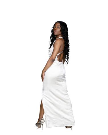 White Gown side split