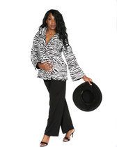 Black and white Zebra print jacket