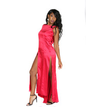 Red Stretch Satin Gown