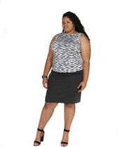 2pc steel grey skirt and top coordinates set