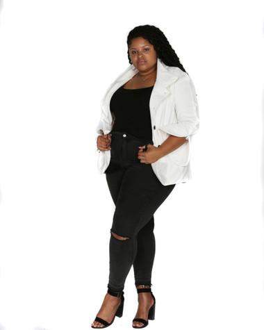 Off white corduroy jacket