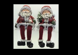 Santa Shelf Sitters 12cm