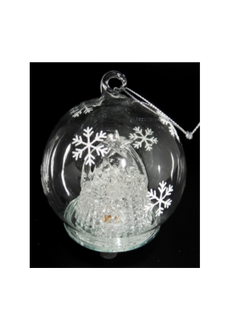 Light up Ball with Nativity - 8cm