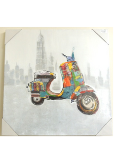 Oil Canvas - Scooter 60 x 60cm