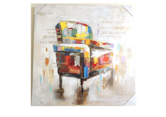 Oil Canvas - Chair 80 x 80cm