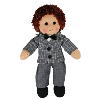 Hopscotch Doll Parker - Grey checked suit with bow tie.