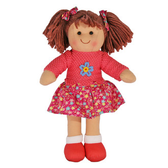 Hopscotch Doll Hayley-  Pink knitted top with floral skirt.