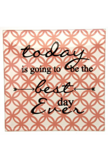 Best ever Day Glass Plaque - 15 x 15cm