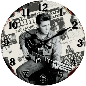 Elvis Army Clock 17cm