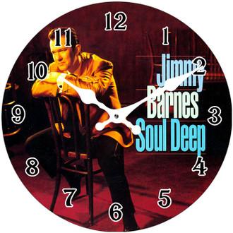 Jimmy Barnes Clock 17cm