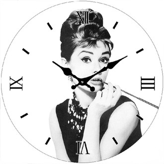 B/W Audrey Clock 17cm