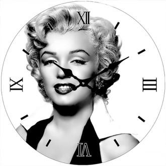B/W Marilyn Clock 17cm