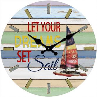 Set Sail Clock 30cm