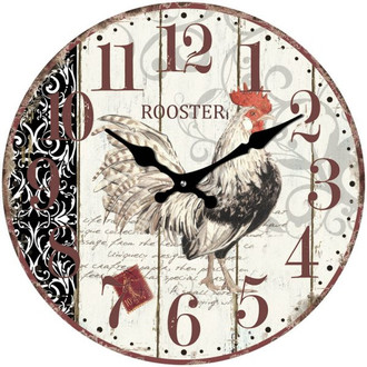 Cockerel Clock 17cm
