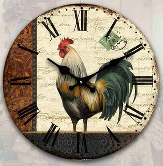 Rooster Clock 17cm