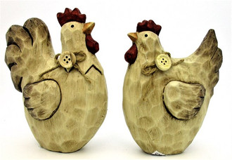 Country Rooster 15cm 2 ast