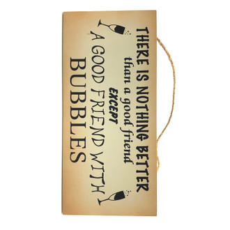 Friend Bubbles Sign 25x12cm