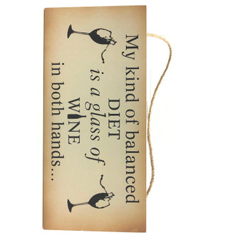 Balanced Diet Sign 25x12cm