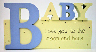 Baby Sign Blue 24x13cm