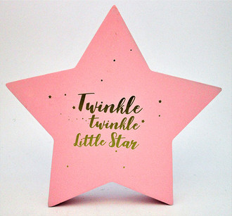 Star Twinkle Pink 16x16cm