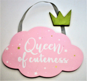 Queen Sign 20x14cm