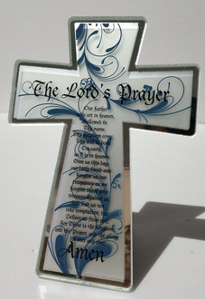 Cross Lords Prayer 13x18cm