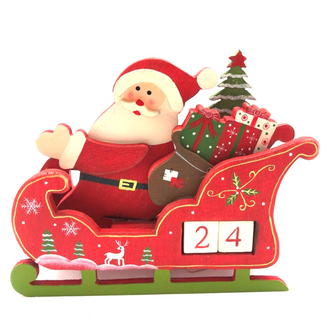 Advent Santa & Sleigh 15cm