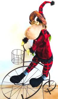 Deer Rudi on Bike 125cm