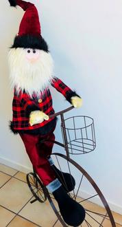 Santa on Bike 125cm