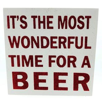 Word Block Wonderful Beer 15x15cm