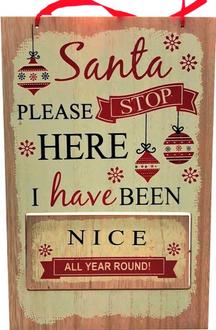 Sign Santa Stop 20x31cm