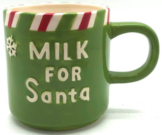 Mug milk for Santa Green