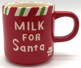 Mug milk for Santa Red