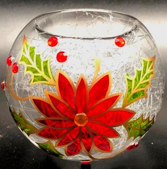 Poinsettia Tealight 8cm